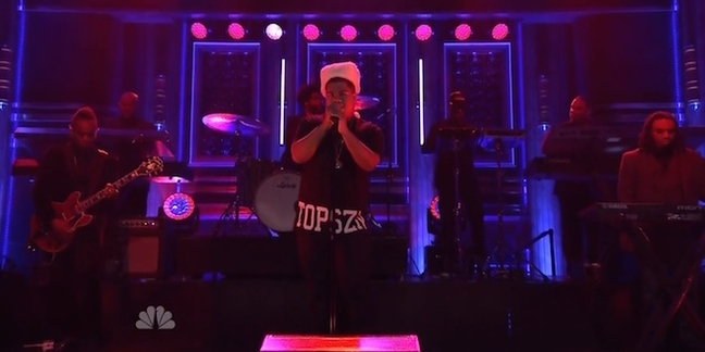 """iLoveMakonnen Performs """"Tuesday"""" With the Roots on """"The Tonight Show"""""""