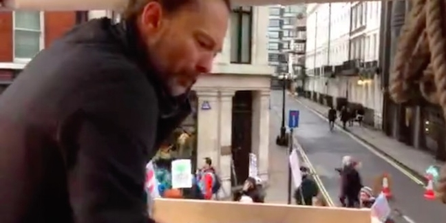 Thom Yorke DJs March for the Climate in London