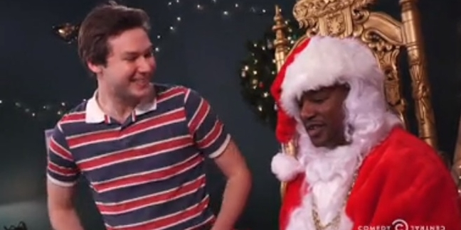 "Cam'ron Plays Santa on ""The Nightly Show"""