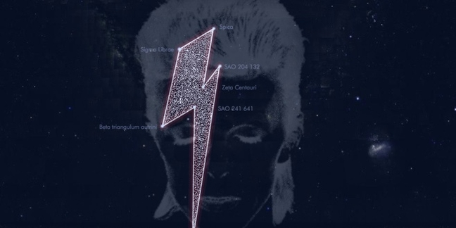 David Bowie Honored With Lightning Bolt-Shaped Constellation
