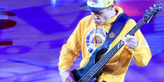 Flea Performs Bass-Only National Anthem at Kobe Bryant's Final Game: Watch