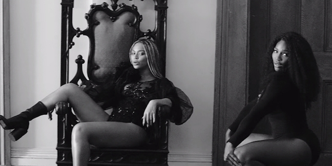 Watch Beyonc 233 Bring Out Serena Williams For Sorry News