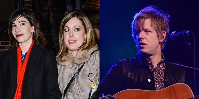 """Watch Sleater-Kinney Cover George Michael's """"Faith,"""" Bowie's """"Rebel Rebel"""" With Britt Daniel"""