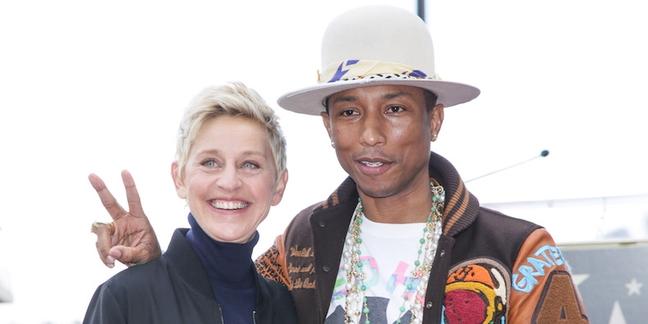 Watch Pharrell and Ellen DeGeneres Talk Dropping Kim Burrell