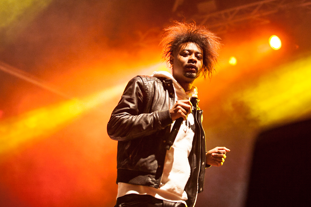 danny brown gets blown on stage