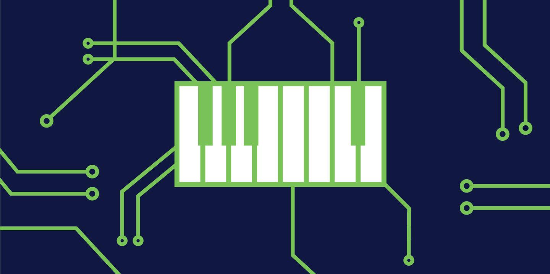 Overtones: Do Androids Dream of Electric Guitars? Exploring the Future of Musical A.I. Artes & contextos OvertoneAIilluatration header